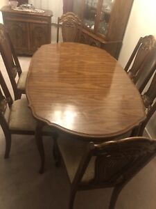 China Cabinet and Dining Room Table