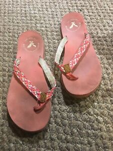 Ladies American Eagle flip flop sandals size 10