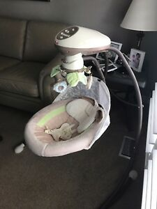 Baby swing with baby monitor
