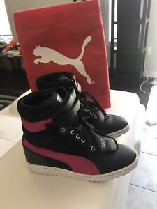 Puma 'Sky Wedge' High Top sneakers, size 9