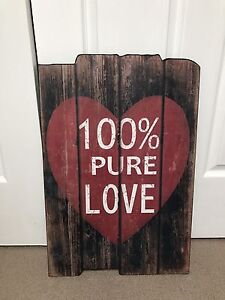 100% pure love wall hanging home decor Lilli Pilli Sutherland Area Preview