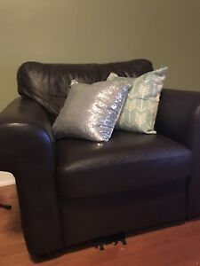 Brown Real Leather Couch Set!