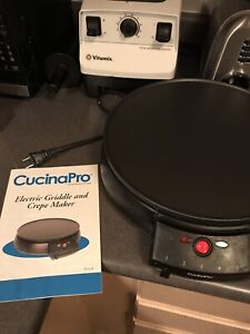 CucinaPro electric crepe maker $25