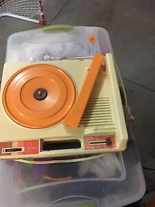 Kids vintage record player