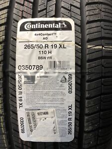 BRAND NEW TIRES 265/50/19 CONTINENTAL