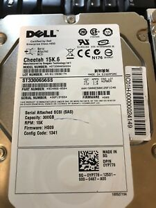 Hard Drives Dell 3.5 inch 15K speed SAS drives