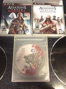 PS3 Assassins creed games bundle!