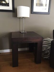 Large modern square end table