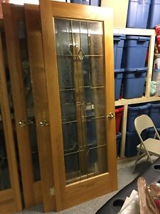 Solid oak French doors GOOD condition 1 owner.