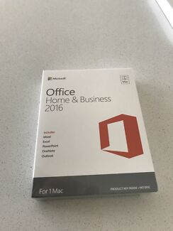 Microsoft office Home and business 2016 Mac