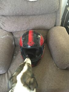 Full face motorcycle helmet size large