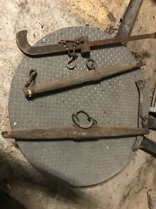 Antique Rustic  Cattle or Ox Yoke and cotton scale hook