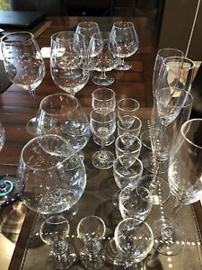 Variety of crystal glassware
