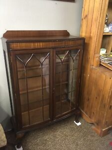 Just in at Penns Antiques a walnut China cabinet