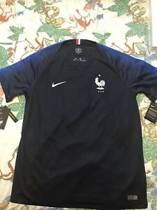 Official Nike Stadium France FFF Soccer Jersey 2018