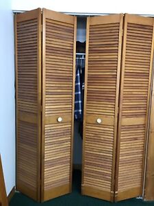 Solid pine louvered closet doors for sale