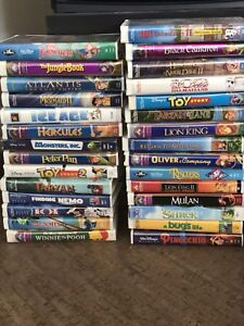 Disney VHS Movies and TV with built in VCR