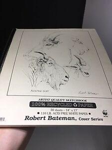 Robert Bateman SketchBook artist quality 14x17