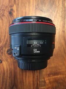 Lentille Canon 50mm 1.2L