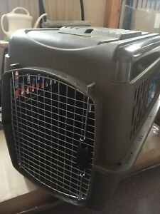 Pet crate with bed