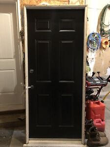 Black Steel Entry Door