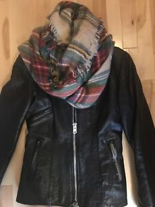 Manteau de cuir Vintage real leather coat