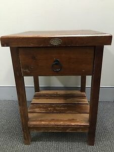 Rustic country timber bedside table Strathfield Strathfield Area Preview