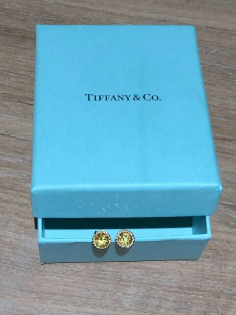 0870105de Genuine Tiffany & Co Sparklers 18k gold and citrine earrings ...