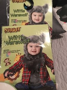 Halloween costumes - Adult Werewolf and two Werewolf cubs
