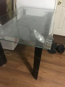 Glass table$40