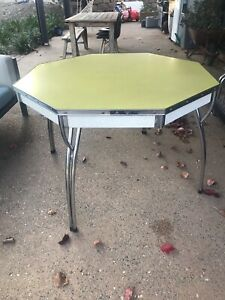 Vintage Retro Octaganol Table