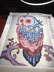 Completed Owl Diamond Painting