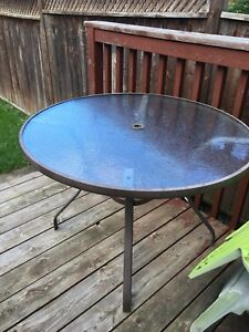 Patio deck table