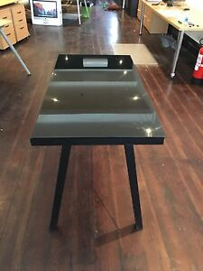 Desk- black with glass top College Park Norwood Area Preview