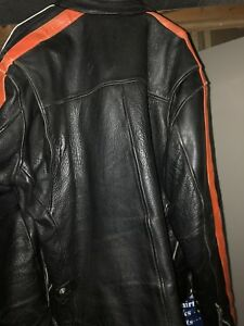 XL Leather Harley Davidson  jacket and leather Harley Wallet