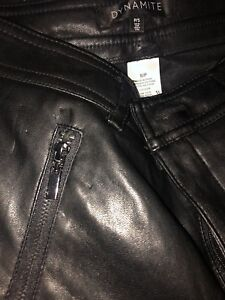 dynamite pleather pants high waisted size small