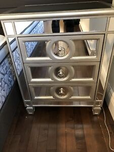 Mirrored nightstands - set of two.