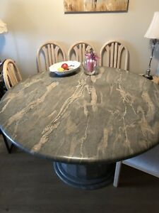Granite dining table for 6 or more