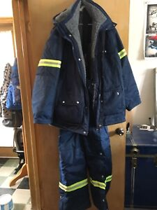 Extreme weatherJacket and dungarees,