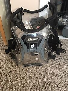 Thor size 13 riding boots and large chest protector