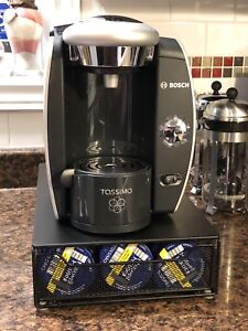 Like New Tassimo T45 With Storage Stand & Maxwell House Discs