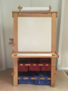 Child's Easel with Whiteboard and Chalkboard