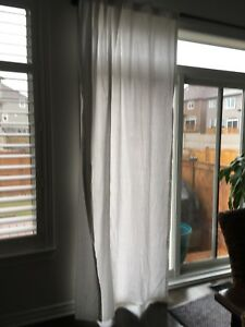 3 sets matching white curtains