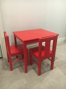 IKEA Children's table and two chairs.