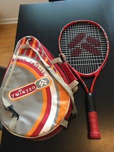 Children's tennis racket with a carrying bag
