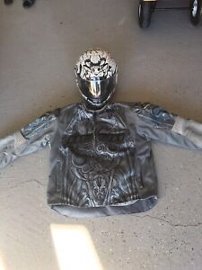 Motorcycle helmet and jacket