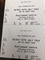 Metric and July Talk Show Halifax May 2