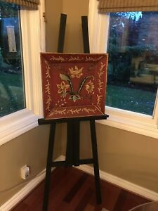 Easel and wood artwork