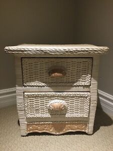 Wicker Side Table
