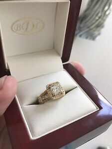 2.72 carat Princess Cut Diamond ring 18k yellow gold New Condition Mooloolaba Maroochydore Area Preview